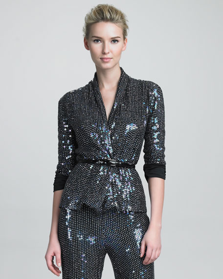 Glitter Cardigan Jacket
