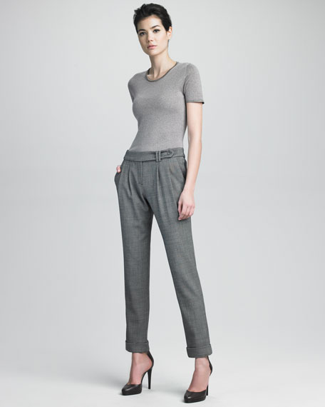 Ankle Pants With Front Closure