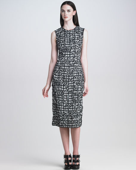 Textured Plaid Dress