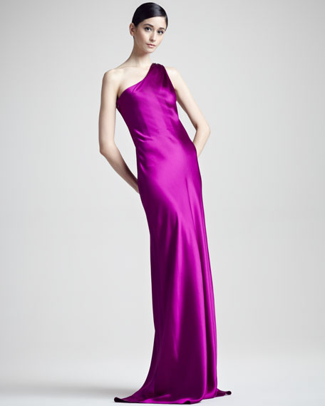 Julien One-Shoulder Gown