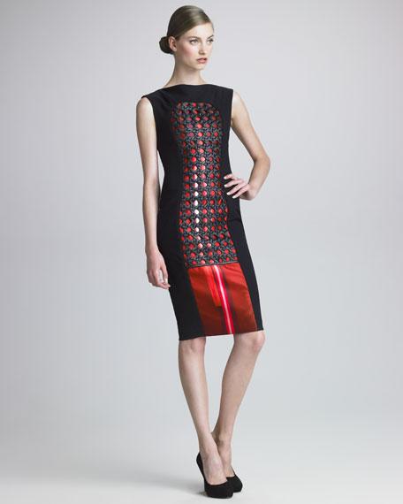 Printed Basketweave Dress