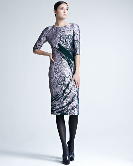 Swirled Jacquard Dress
