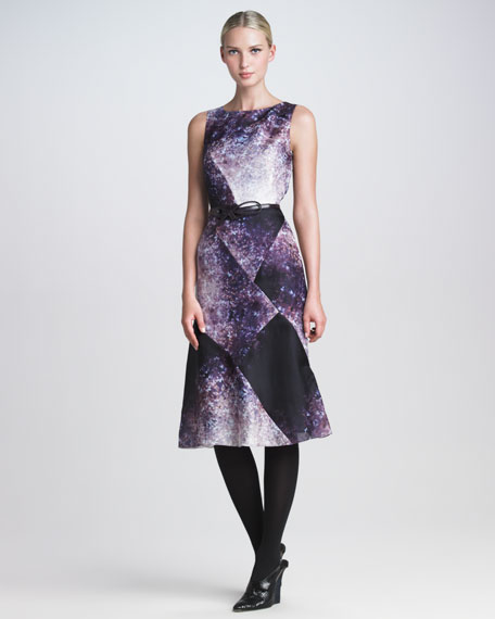 Kaleidoscope-Print Dress