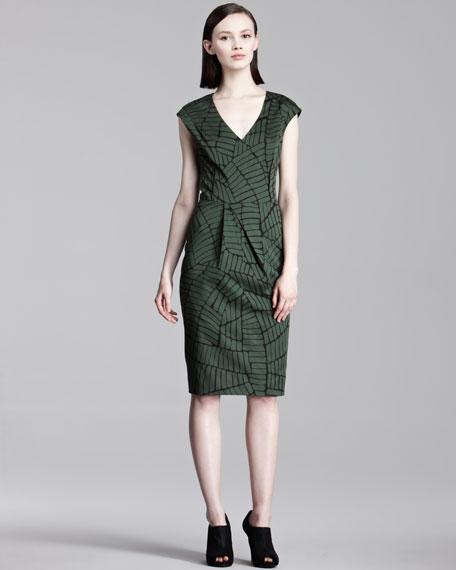 Brick-Print Stretch Dress