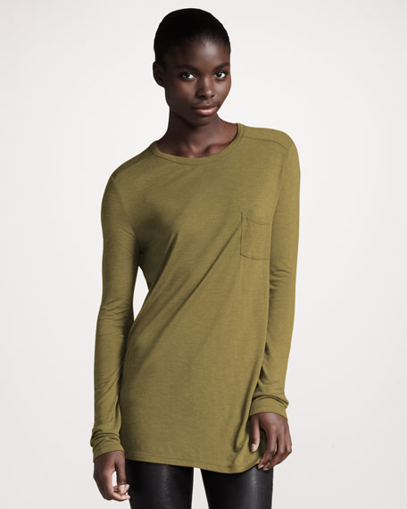 Classic Long-Sleeve Tee, Chartreuse