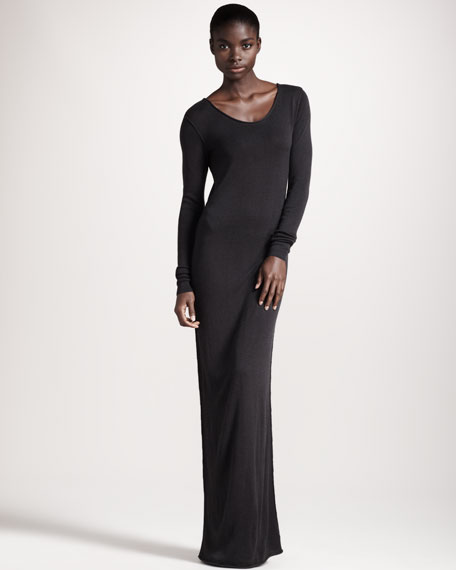 Long-Sleeve Maxi Dress