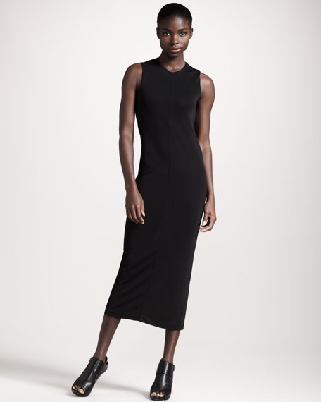 Drape-Back Jersey Dress