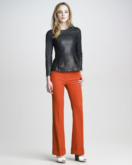 Cuffed Stovepipe Trousers
