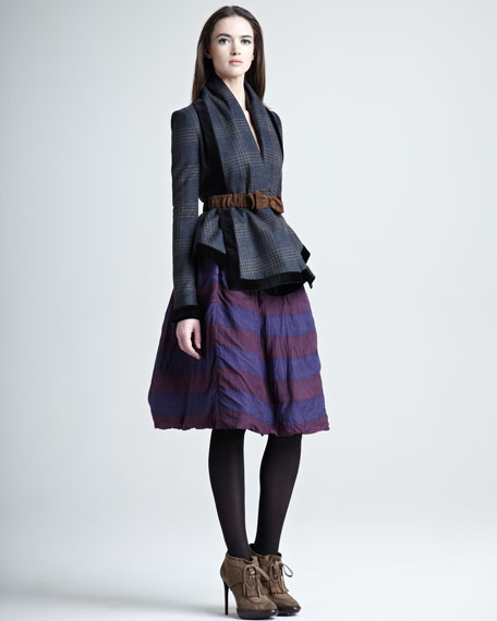 Striped Double-Layer Skirt
