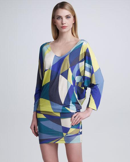 Dolman-Sleeve Shift Dress