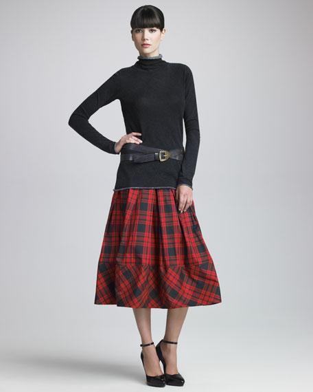 Plaid Taffeta Skirt