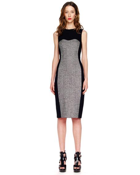 Tweed-Panel Dress