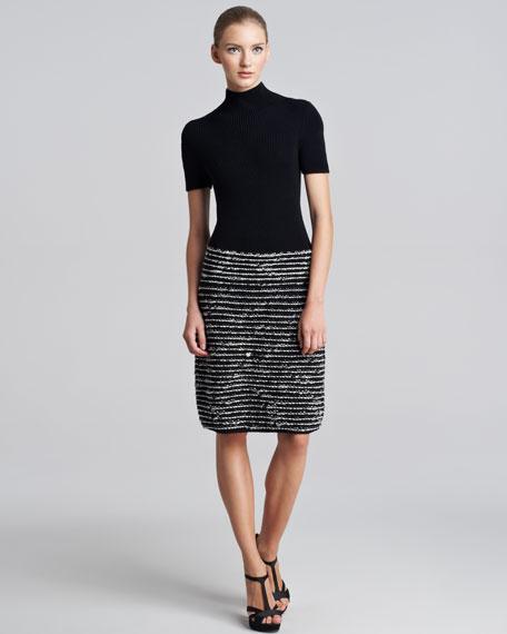 Rib-Knit Sweaterdress