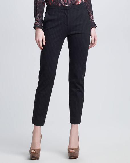 Cropped Pinstripe Pants