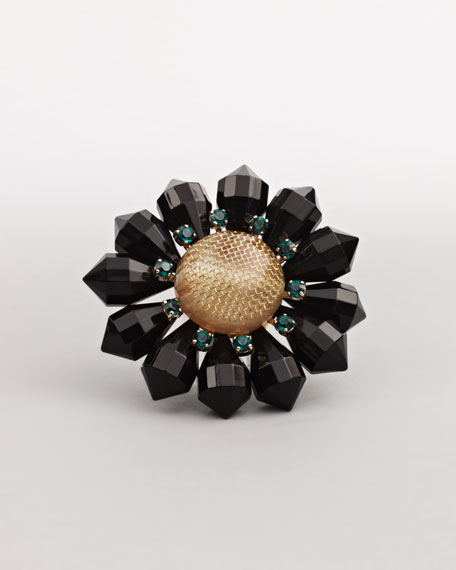 Flower Brooch, Black