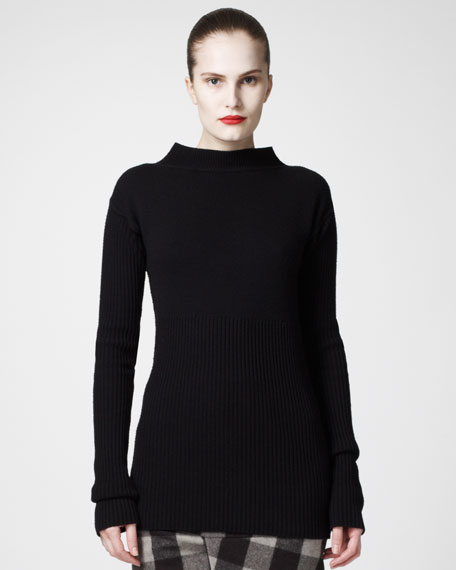 Rib-Knit Merino Sweater