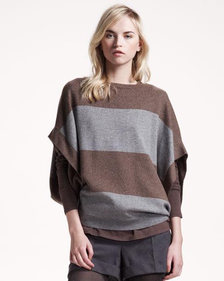 Metallic Striped Pullover