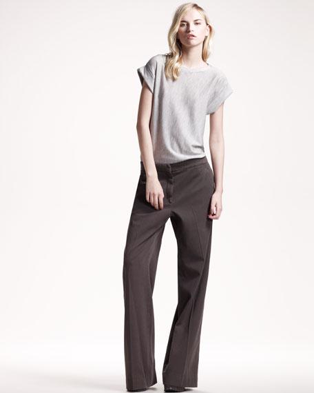 Garment-Dyed Wide-Leg Pants