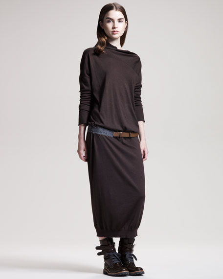 Long Cashmere-Silk Sweaterdress