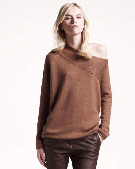 Off-Shoulder Cashmere Top