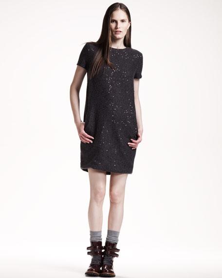 Paillette Shift Dress