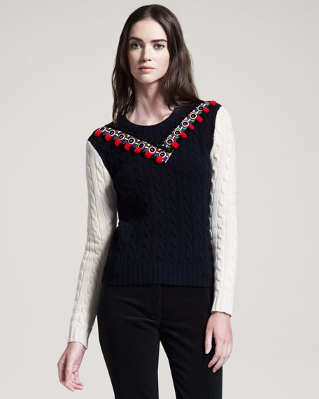 Venise One-Row Sweater