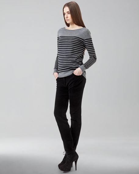 Magda Cropped-Ankle Pants