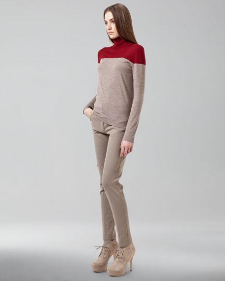 Slim Knit Cargo Pants