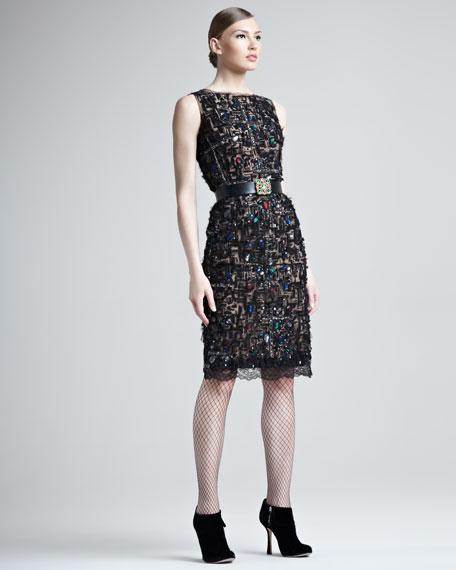Jeweled Lace Dress