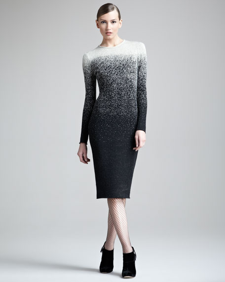 Ombre Speckled Knit Dress