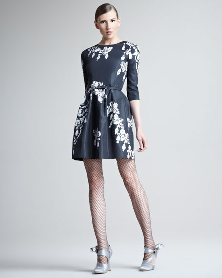 Bijoux Printed Silk Dress