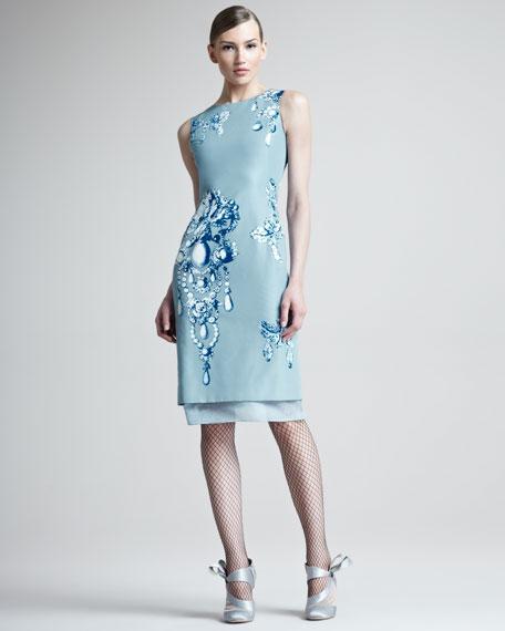 Bijoux Printed Silk Dress