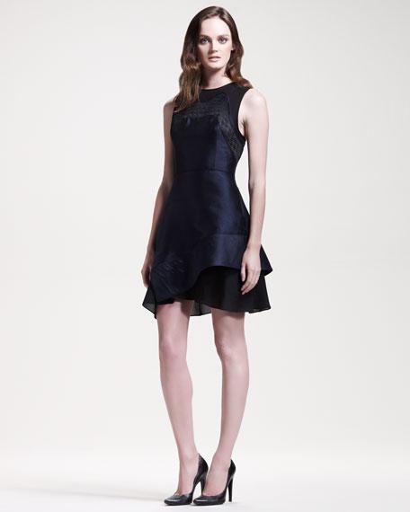 Sleeveless Shantung Dress