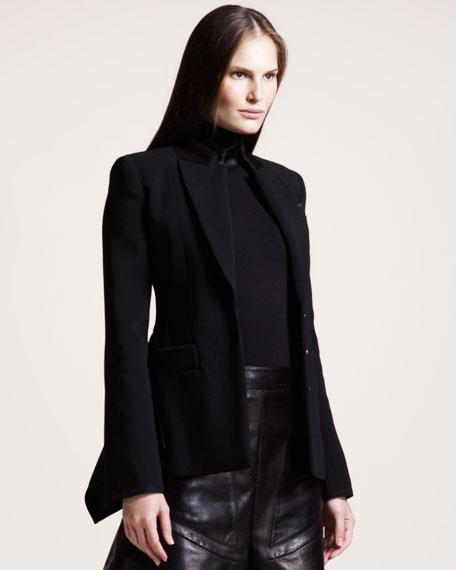 Velvet-Trim Jacket