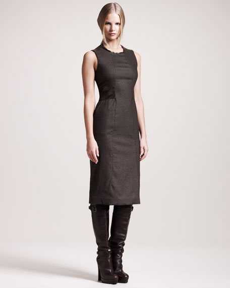 Camborne Stretch-Flannel Dress