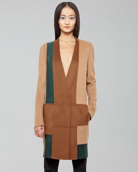 Colorblock Camel Coat