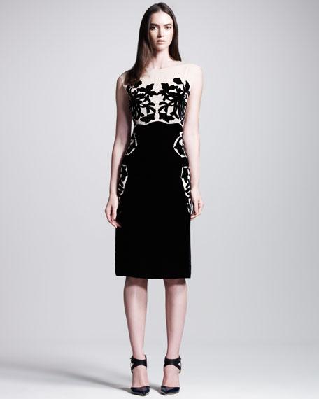 Devore/Chiffon Dress