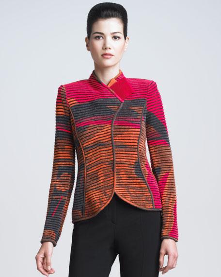 Striped Jacquard Ottoman Jacket