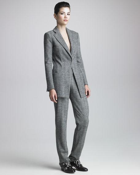 Herringbone-Tweed Suit