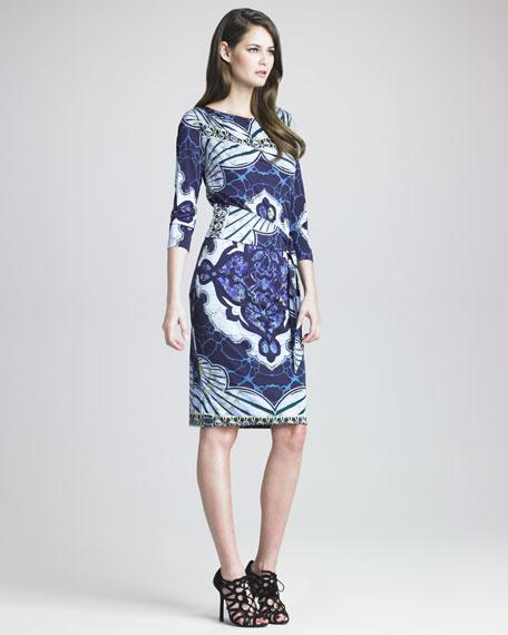 Marilyn Kaleidoscope-Print Dress