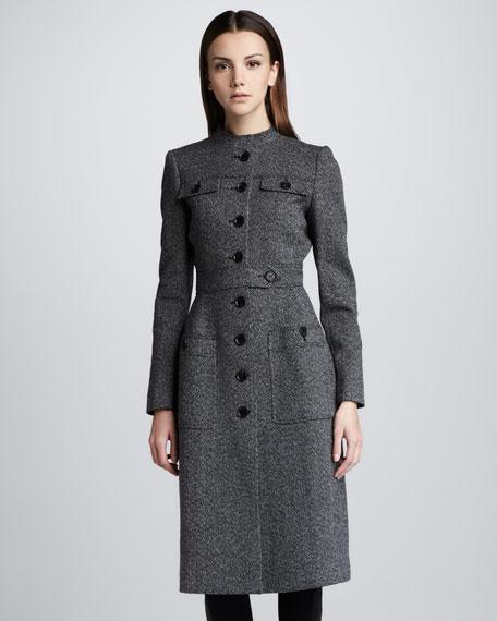 Compact-Tweed Princess Coat