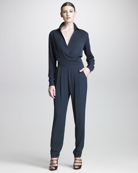 Pleated-Front Tapered Pants