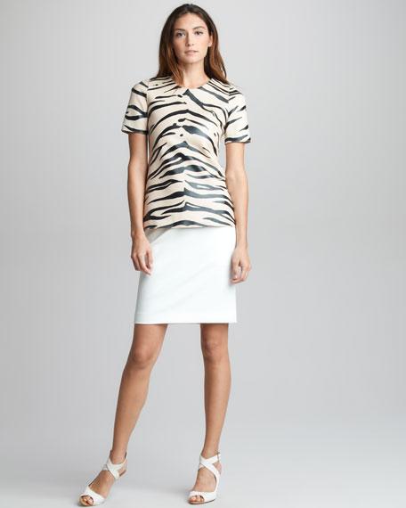 Grosgrain-Waist Skirt