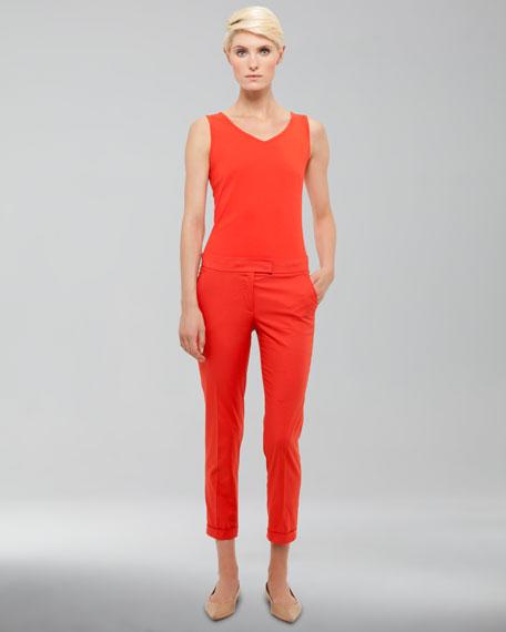 Frankie Cuffed Pants, Tomate