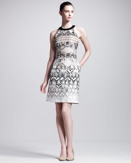 Reptile-Print Dress