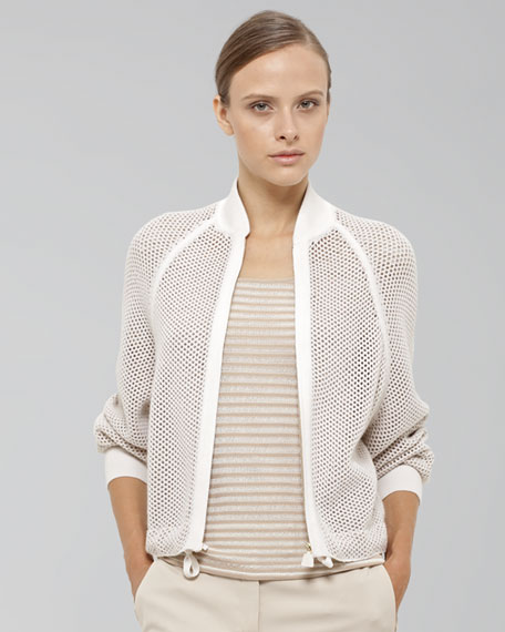 Honeycomb Knit Jacket