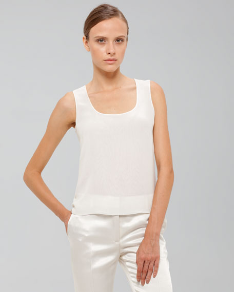 Scoop-Neck Organza Shell