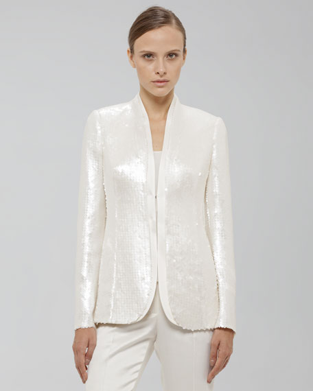 Sequined Hook-and-Eye Jacket