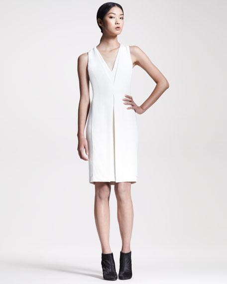 Inverted Crepe Sheath Dress
