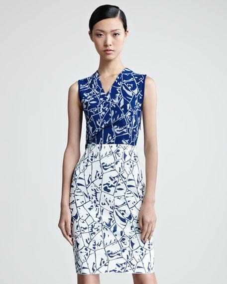 Sleeveless Surplice Bodice Dress